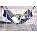 Namsan Cat Hammock,Cat Cage Hammock,Hammock Bed,2 in 1 Summer&Winter,Waterproof ,Purple
