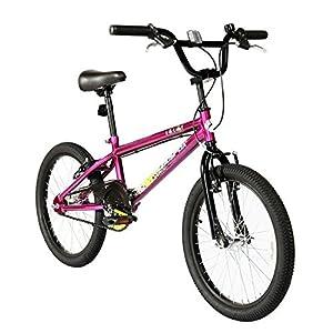 Muddyfox Unisex Splat BMX Freestyle Steel Frame and Handlebars Solid Chainwheel