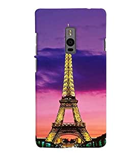 Printvisa Glowing Eiffel Tower Back Case Cover for One Plus Two::One Plus 2::One+2