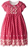 Laura Ashley London Girls 2-6X Eyelet Embroidered Dress