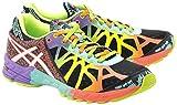 Asics Women's Gel Noosa Tri 9 Running Shoes - Black/Yellow/Pink/Orange, Size 7