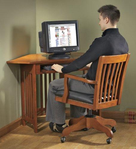 Buy Low Price Comfortable Mission Corner Computer Desk Mission Oak Finish (B000EP7HA2)