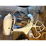 KitchenAid K45SSWH Classic 4.5-Quart Bowl Stand Mixer, Whiteby KitchenAid