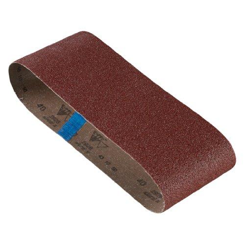 Bosch SB6R040 4-Inch X 24-Inch Sanding Belt, Red, 40 Grit, 3-Pack