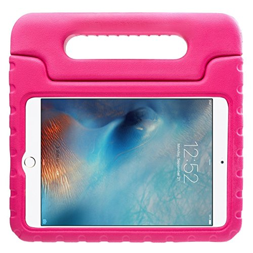 iPad Mini 4 Case - Travellor Kids Light Weight Kido Series Multi Function Convertible Handle Kickstand Kids Friendly Protective Shockproof Cover with Stand & Handle for Apple iPad Mini 4 (Rose) (Sell Ipad Mini compare prices)