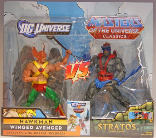 Picture of Mattel DC Universe Masters of the Universe Classics Exclusive Action Figure 2Pack Hawkman vs. Stratos (B004E7ENDK) (Mattel Action Figures)