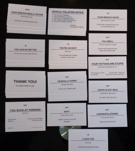 Offensive and Supportive Business Cards (Variety Pack) - 28 Cards!