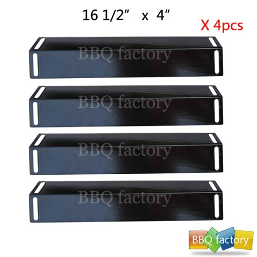 92151(4-Pack) Porcelain Steel Heat Plate Replacement For Select Gas Grill Models By BBQ Grillware, Charbroil And Others