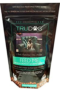 Feed MeTM - Crunchy Munchy Gourmet Gobbler - Freeze-Dried Raw Superfood For Dogs -10 oz- Raw Meat Organic Dog Food for Optimal Canine Health and Natural Longevity- Freeze Dried Raw Turkey - All Natural- Balanced Nutrition-No Fillers- No Grains- Just Add Water