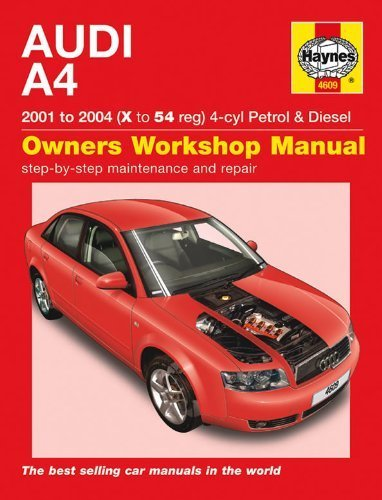 Audi A4 Petrol And Diesel Service And Repair Manual: 2001 To 2004 (Haynes Service And Repair Manuals) By Randall, Martynn (2007) Hardcover