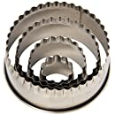Ateco 4 Piece Fluted Round Cutter Set