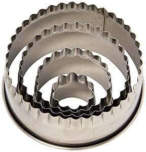 Ateco 4 Piece Fluted Round Cutter Set