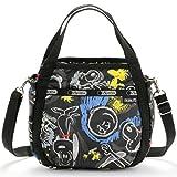 (レスポートサック) LeSportsac スモールジェニー (チョークボードスヌーピー) ブラック ピーナッツコラボ PEANUTS 8056 G057 Small Jenni Chalkboard Snoopy [並行輸入品]