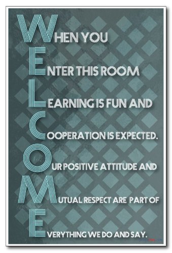 Welcome - New Classroom Motivational