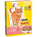 Go-Cat Adult Salmon and Vegetable Dry Cat Food, 825g (Pack of 5)