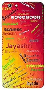 Jayashri (Goddess Of Victory) Name & Sign Printed All over customize & Personalized!! Protective back cover for your Smart Phone : Moto E-2 ( 2nd Gen )