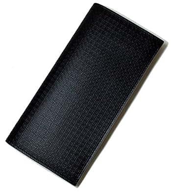 (フェラガモ)Salvatore Ferragamo 長財布 マイクロガンチーニモノグラム二つ折(ブラック) 669151 SF-1261 [並行輸入品]