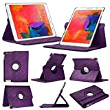 Stuff4 Diamond Designed Case with 360 Degree Rotating Swivel Action and Screen Protector/Stylus Touch Pen for 8.4 inch Samsung Galaxy Tab Pro T320/T321/T325 - Purple
