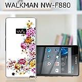 SONY WALKMAN NW-F880 カバー/ケース  ワンポイントFLOWER  ソニー ウォークマン F-880 TPU素材 ソフトケース・カバー