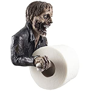 The Undead Graveyard Zombie Decorative Toilet Paper Holder in Scary Halloween Decorations As Bathroom Wall Decor Art & Plaques or Spooky Home Bath Decorating Accessories for Whimsical Novelty Gifts from Generic