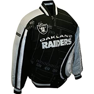 Mens Oakland Raiders Big Play Cotton Twill Jacket Medium by MTC Marketing, Inc