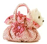"Aurora Fancy Pals Pet Carrier SCRUNCHY PINK Purse w/8"" Plush"