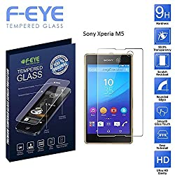 F-EYE® Sony Xperia M5 [Tempered Glass], Premium, Ultra Clear Tempered Glass Screen Protectors for Sony Xperia M5 9H Hardness, Made From Real Tempered Glass, Shatterproof, High Definition Clear Tempered Glass, Oleophobic Coating, Safety Packing, Fast Delivery And Easy To Install In Your Smart Phones And Android Phones (Sony Xperia M5)