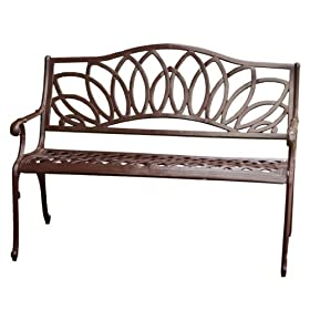 Awe Inspiring Reviews Best Selling Spiral Cast Aluminum Outdoor Bench Customarchery Wood Chair Design Ideas Customarcherynet
