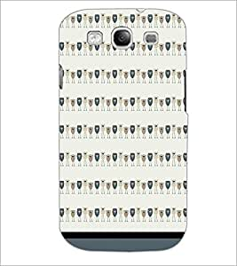 PrintDhaba Owl Pattern D-1706 Back Case Cover for SAMSUNG GALAXY S3 (Multi-Coloured)