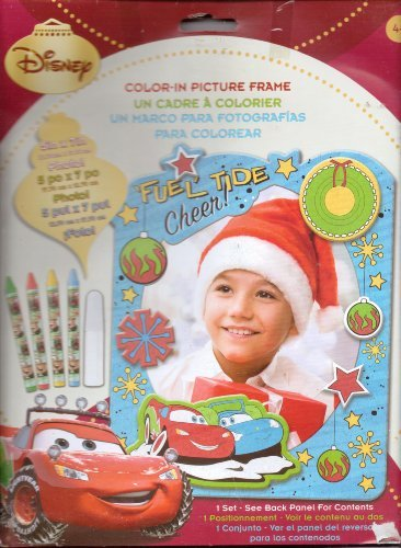 Disney Color in Picture Frame Cars Christmas Holiday Kids Craft - 1