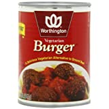 Worthington Vegetarian Burger, Low Fat, 20-Ounce Cans (Pack of 12) ~ Worthington
