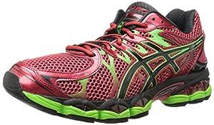 ASICS Men's Gel-Nimbus 16 Running Shoe, Chinese Red/Black/Flash Green, 11 M US