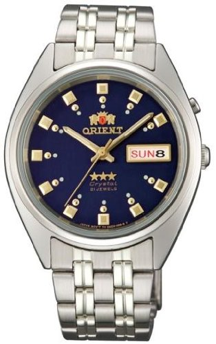Orient #FEM0401ND Men's Tri Star Navy Blue Dial Standard Self Winding Automatic Watch