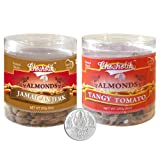 Chocholik Dry Fruits - Almonds Jamaican Jerk & Tangy Tomato With 5gm Pure Silver Coin - Diwali Gifts - 2 Combo...