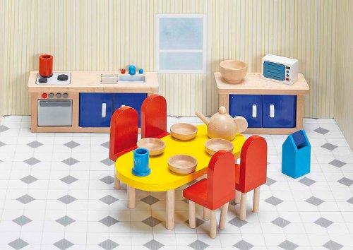 Goki Puppenhaus Puppenmöbel Krankenhaus Küche Holz