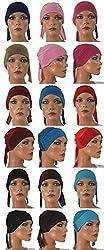 Apparelsonline Wholesale Lot of 6 Sparkle Hijab cap w/Ties