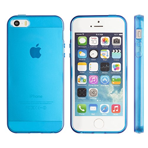 iPhone 5S case, Totallee Revealer, Flexible Soft Slim Jelly Transparent TPU Cover for iPhone 5 5S SE (Blue) (Iphone5 Jelly Case compare prices)