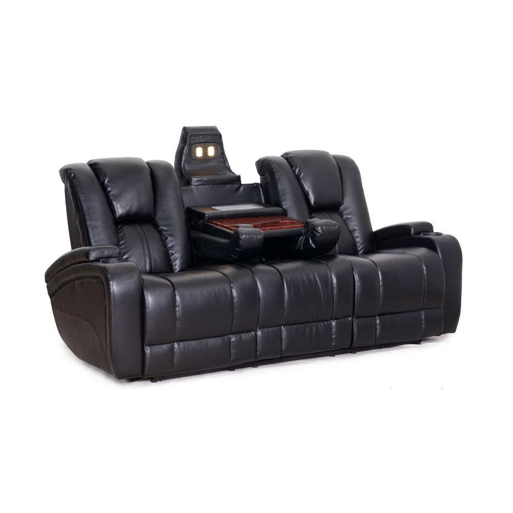 SeatCraft Transformer Reclining Sofa with Power and Drop Down Table