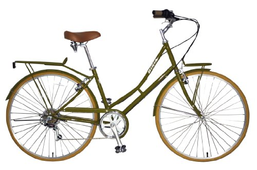 City Bike , Commuting bicycle 700C , Olive Green , Women's by Biria