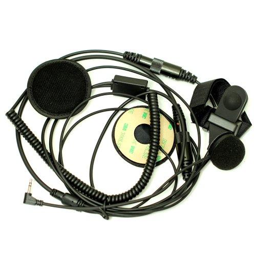 Full Face Moto Motorcycle Bike Helmet Earpiece Headset Mic Microphone For 1-Pin Motorola Talkabout Cobra Radio