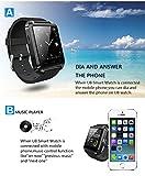 MEMTEQ® Smart Orologio da Polso Bluetooth Touchscreen per Smartphone Android 4,2 Nero