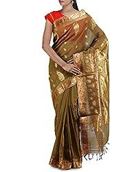 Unnati Silks Women Green Mysore Sico Saree