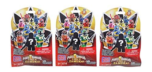 Mega Bloks Power Rangers Super Samurai Series 3 Blind Bag Mystery Packs (3 Packs)