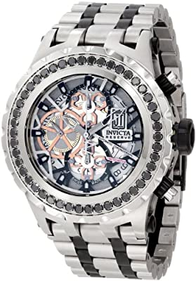 Jason Taylor for Invicta Collection 12957 Specialty Subaqua Black Diamond Accented Automatic Chronograph Silver Dial Two Tone Stainless Steel Watch