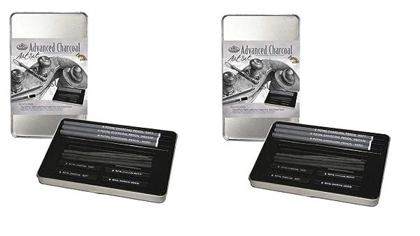 Royal & Langnickel RSET-ART2503 Small Tin Charcoal Drawing Art Set (2 Pack) (Tamaño: 2 Pack)