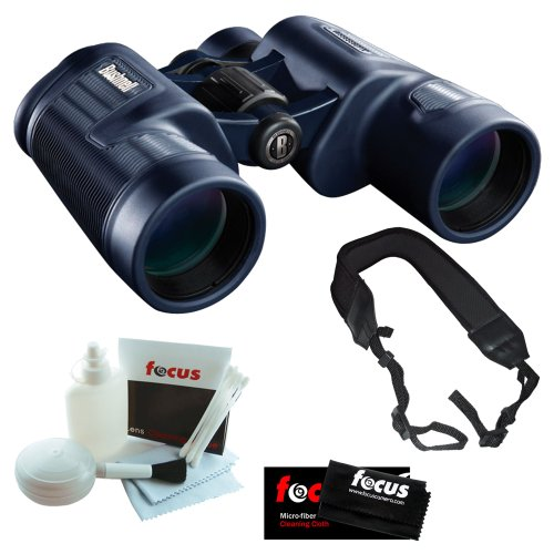 Bushnell 134211 H20 Waterproof 10X42 Black Binoculars Pp Bak-4 Wp/Fp Twist Up Eyecups + Wide Strap + 5 Piece Deluxe Cleaning And Care Kit + Accessory Kit