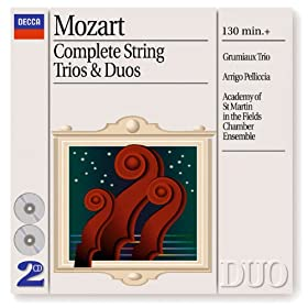 Wolfgang Amadeus Mozart: Divertimento for Violin, Viola, and Cello in E flat, K.563 - 5. Menuetto (Allegretto) - Trio I-II