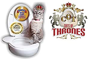 C O T Cats Of Thrones Toilet Seat For Cats