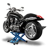 Motorcycle jack ConStands Mid-Lift XL blue for Harley Davidson Night Train (FXSTB), Night-Rod/ Special (VRSCDX)/(VRSCD), Road King (FLHR/I), Road King Classic/ Custom (FLHRC/I)/(FLHRSI)