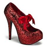 Bordello TEEZE-10G - sexy burlesque glitter high heels - sizes 3,5-9